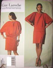 Vogue Pattern 1284 PARIS DESIGNER Guy Laroche Top & Skirt UNCUT Sz 6-8-10-12-14