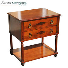 Vintage Beacon Hill Furniture Mahogany Hall / Side Table w/ Brass Drawer Pulls
