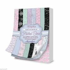 "Hunkydory BOUTIQUE CHIC FABULOUS BOOK FOILED CARD 7""x5""  40 Sheets BCHIC112"