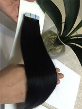 """6A+ Seamless Tape In 100% Remy Human Hair Extensions 16""""18""""20"""" full head"""