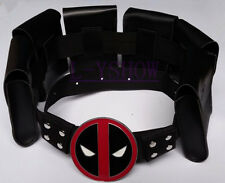 Superhero X-Man Deadpool Halloween Costume Props Belt Waistband Black
