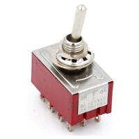 Miniatur Kippschalter 4PDT 4XUM 3 Stellungen: EIN/AUS/EIN 12-polig 2A 250VAC UL