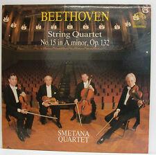 """BEETHOVEN STRING QUARTET No. 15 IN A MINOR SMETANA QUARTET 12"""" LP (e849)"""