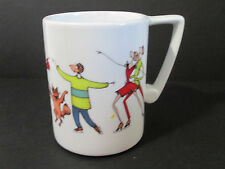Giddies Coffee Mug Marquis by Waterford 2004 Ice Skating Dogs