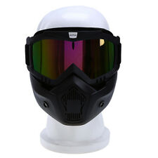 Colorful Lens Motorcycle Riding Protective Helmet Goggle Shield Nose Face Mask