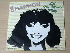 "7"" Shannon * let the music play (mint -) Electro discoteca breakdance"