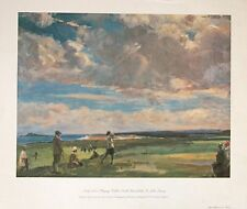 Lady Astor playing Golf - John Lavery print - 49x38cm, vintage golf poster print