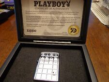 PLAYBOY 50TH ANNIVERSARY ARMOR ZIPPO LIGHTER 1758/7500 LIMITED EDITION 2003