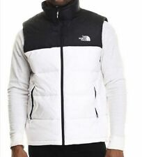 THE NORTH FACE MENS NUPTSE DOWN VEST JACKET WINTER COAT L LARGE WHITE BLACK NEW