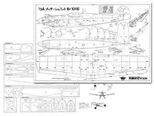 "Bf 109e Full Size Model Airplane Kit Printed Plans 36"" Wing Span"