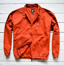 RALPH LAUREN CHAPS Mens Harrington Bomber Jacket Cotton Orange Size L Large