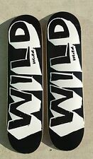 "LOT OF 2 Graphic skateboard deck 7.75"" great deal quality WILD MILD Skateboards"