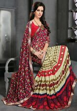 Stylist Multi Color Printed Chiffon Saree with a Blouse D.No RK3016