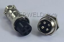 1Set 4 Pin Socket Connector 16-4P Fit TIG Welding & Plasma Cutting Torch