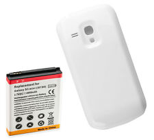 Long Life 4000Mah Extended Battery + Cover for Samsung Galaxy S3 Mini i8190 Wte