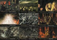 LORD OF THE RINGS FELLOWSHIP UPDATE 2002 TOPPS BASE CARD SET OF 72 MOVIE
