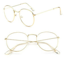 Vintage Oval Transparent Gold Eyeglass Frame Retro Steel legs Glasses Spectacles
