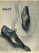 PUBLICITE ADVERTISING 095  1961  BALLY  chaussures homme TORERO