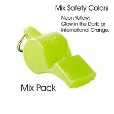 3 PACK=$3.25 per Fox 40 Pearl Whistle (90dB-pealess)- NEON, GLOW, ORANGE mix!