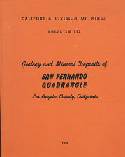 RARE gold mines 1st ed., San Fernando Valley Calif, fossils, 5 BIG separate maps