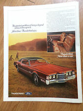 1972 Ford Thunderbird Ad  1971 Ponderosa Steak House Ad