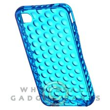 Apple iPhone 4/i4S Candy Skin Case Circles Blue Cover Shell Shield Protector