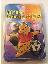 Disney Winnie the Pooh Playing Soccer Light-Up Magnetic Button & Chord