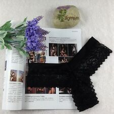 Fashion Lace Black Thongs G-string T-back Panties Knickers Lingerie Underwear