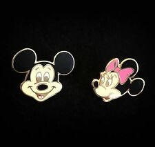LE 50 Mickey Minnie Mouse Head DLR Anniversary Frame Map Disney Auction Gold Pin
