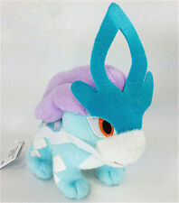 "Cute Pokemon Suicune Kids Toy Soft Plush Stuffed Doll Toy Birthday 8""/20cm"