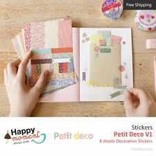 Petit Deco V1 Stickers Diary Planner Scrapbooking Decoration Stickers 8 sheets