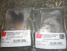 FEDERAL SIGNAL STREETHAWK SECONDARY SSL-C LENS (CLEAR) SET-OF-TWO-NEW-IN-PACKAGE