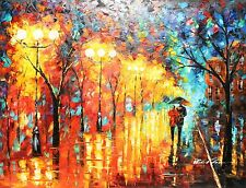 """Evening lights, 36x48"""" HIGH QUALITY OIL PAINTING 4' WIDE, w/o frame"""