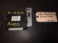 01-02 LEXUS IS300 THEFT WARKING RELAY #89730-53040 *See item*