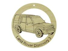 Land Rover Discovery 3 Natural Hardwood Ornament Sanded Finish Laser Engraved