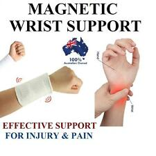MAGNETIC WRIST GUARD BAND BRACE SUPPORT CARPAL TUNNEL RSI PAIN RELIEF GYM STRAP