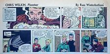 Chris Welkin Planeteer by Art Sansom - scarce Sunday comic page - Dec. 28, 1952