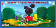 Personalized Mickey Mouse Clubhouse Theme Birthday Party Vinyl Banner Sign Decor