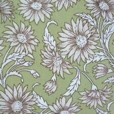 ANTIQUE DAISY - GREEN - 100% COTTON FLORAL FABRIC sold per metre Patchwork