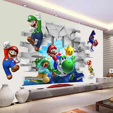 Super Mario 3D Kids Nursery Removable Wall Art Decals Vinyl Stickers Home Decor