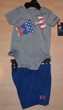 NWT Boys Under Armour Size 3/6 Months Short Set