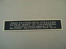 Pittsburgh Steelers Super Bowl 40 Nameplate For A Football Jersey Case 1.25 X 6