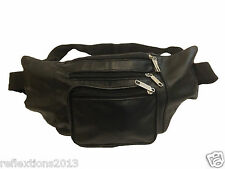 Leather Travelling Waist Bag  Three Big Pockets For Travel Hiking Back Packers