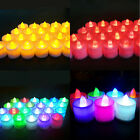 Color Flameless LED Tealight Tea Candles Wedding Light Battery Colorful Lamp pm