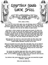 Framed Print - Egyptian Good Luck Spell (Picture Poster Art Ritual Magic Witch)