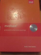 2 BLACK MEDIVEN XTRA WIDE SIZE 6 COMPRESSION STOCKINGS-BNIB-NO RES-BARGAIN BUY