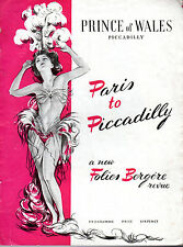 "NORMAN WISDOM IN ""PARIS TO PICCADILLY"" - A NEW FOLIES BERGERE REVUE - PROGRAMME"