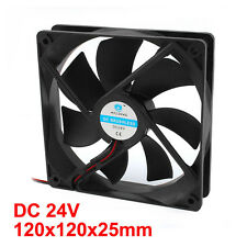 Brushless DC Cooling Fan 7 Blade 24V 120mm x 120mmx25mm