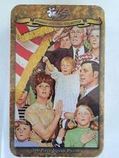"500 PIECE JIGSAW PUZZLE NORMAN ROCKWELL COLLECTORS TIN ""Salute The Flag"" New!!!"