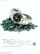PUBLICITE ADVERTISING 086  1998  Tag Heuer  montre professional sport 200 métres